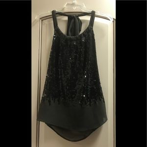 Ark & Co black sequin halter top!!